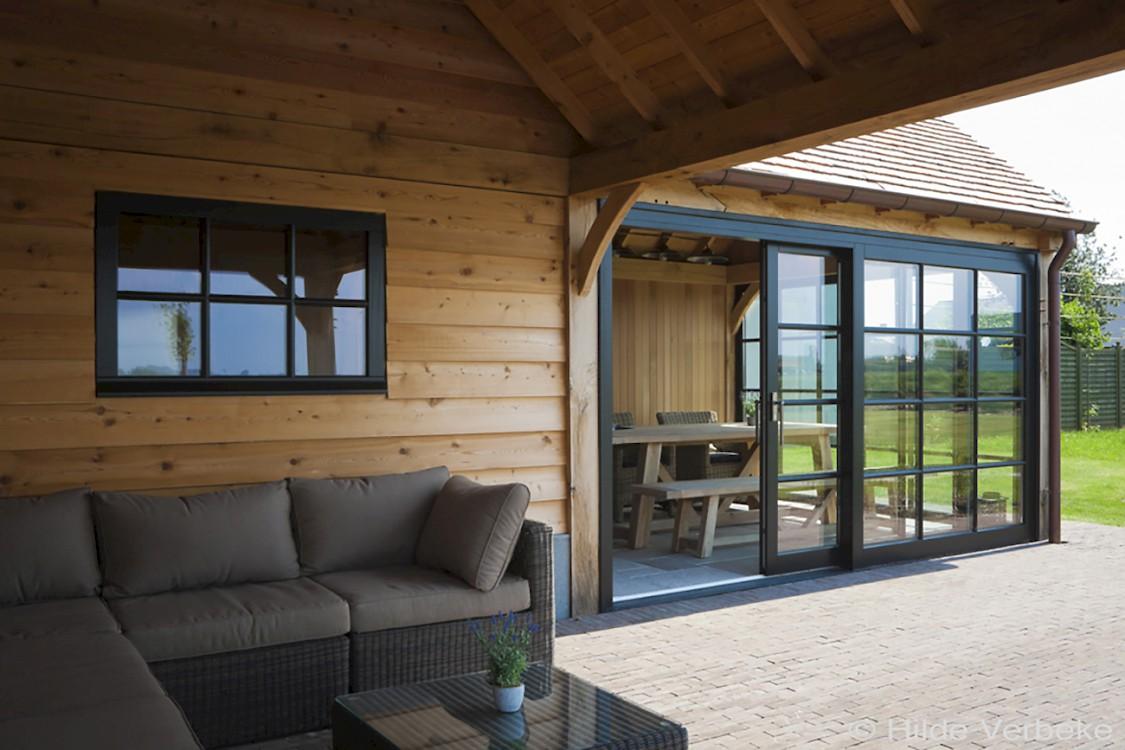 Poolhouses en bijgebouwen - Overdekt terras in hout ...