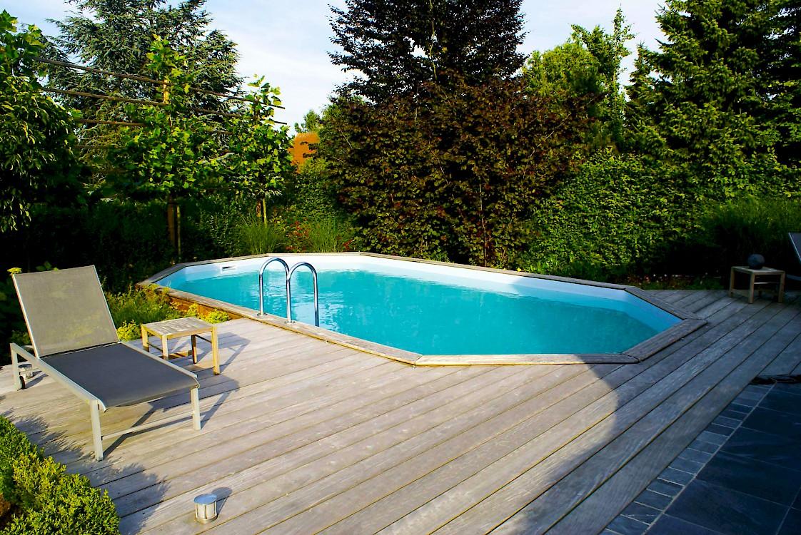 Houten zwembaden for Opzet zwembad