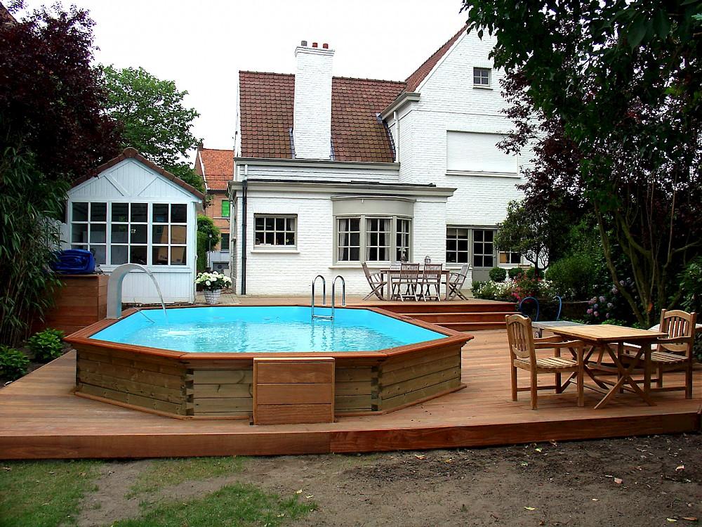 Houten zwembaden - Zwembad terras hout photo ...