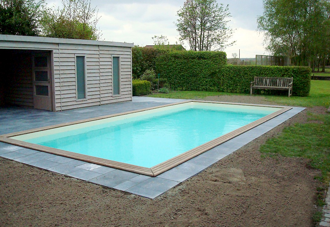 Houten zwembaden - Houten strand zwembad ...