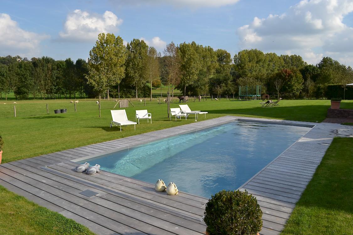 Inox zwembaden - Deco terras zwembad ...