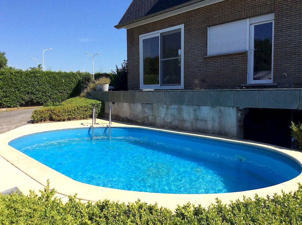 Great zwembad zelfbouw zwembad in metaal with zelf zwembad for Zwembad half inbouw